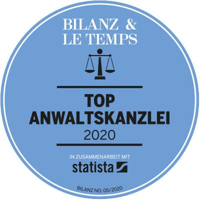 Top Anwaltskanzleien 2020: Schärer Rechtsanwälte wieder ausgezeichnet