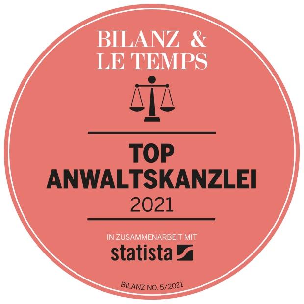 Die besten Anwaltskanzleien der Schweiz 2021: Schärer Rechtsanwälte ist sechs Mal vorne dabei